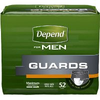 Print a coupon for $2 off a pack of Depend Guards or Shields for Men