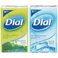 Save $1 on any two packages of Dial Bar Soap, 3-pack or larger