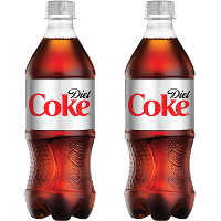Save $1 on two 20 ounce bottles of Diet Coke