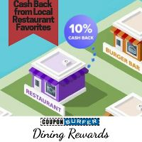 Get up to 10% Cash Back at 1000's of local restaurants + stores when you pay with your linked Credit Card