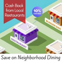 Get discounts on Fast Food, Casual Dining and Neighborhood Favorites