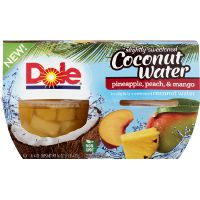 Print a coupon for $1 off Dole Fruit Bowls in Slightly Sweetened Coconut Water