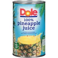Print a coupon for $0.75 off one 46 ounce can or a six pack of Dole Juice