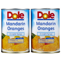 Print a coupon for $0.75 off any two 15oz. cans of Dole Mandarin Oranges
