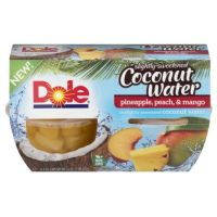 Print a coupon for $1 off one Dole Fruit Bowl in Slightly Sweetened Coconut Water
