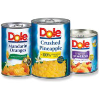 Save $1 on three cans of Dole Canned Fruit