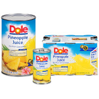 Save $1.50 on any two Dole Pineapple Juices, 46oz or 6oz 6-pack cans