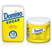 Print a coupon for $0.75 off two Domino Sugar Products 2 lbs or Larger