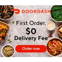 Order from Doordash and receive $0 Delivery Fee (free delivery) on First Order