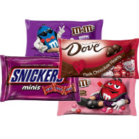 Print a coupon for $1 off any two Valentine's Day Dove Chocolates, M+M's, Snickers and more