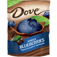 Save $1 on any pouch of New! Dove Whole Fruits Dipped in Dark Chocolate