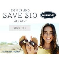 Get $10 off $50 from Dr. Scholl's