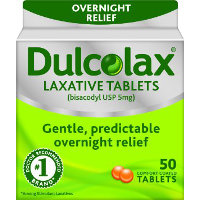Save $5 on one box of Dulcolax, 50 or 100 count