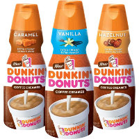 Save $0.75 on one bottle of Dunkin' Donuts Coffee Creamer