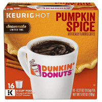 Print a coupon for $1 off a 16ct. box of Dunkin' Donuts Pumpkin Spice K-Cup Pods