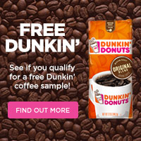 Dunkin' Coffee - Get Free Samples for New Customers