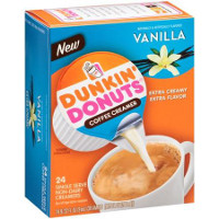 Save $1 on a box of Dunkin' Donuts Coffee Creamer Singles