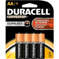 Save $1 on any 4 pack of Duracell CopperTop or Quantum Batteries