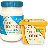 Save $1 on one jar of Earth Balance MindfulMayo or one container of Earth Balance Buttery Spread