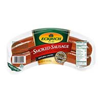 Save $1 on two packages of Eckrich Smoked Sausage