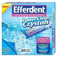 Print a coupon for $1 off any Efferdent Denture Cleaner product, 24 count or higher