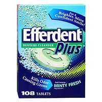 Print a coupon for $1.50 off any Efferdent Denture Cleanser, 78 count or higher