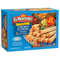 Save $1 on one El Monterey Taquito or Mini Chimi Snack Box