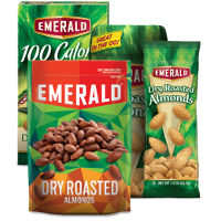 Print a coupon for $1 off two packages of Emerald Nuts
