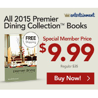Save $25 on the 2015 Premier Dining Collection - Yours for just $9.99