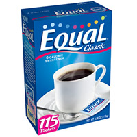 Print a coupon for $1.50 off one package of Equal 0 calorie sweetener