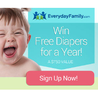 Join the EverydayFamily Community for Free Today and get entered to win Free Diapers for a Year!