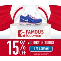 Print a coupon for an extra 15% off shoes and more at Famous Footwear