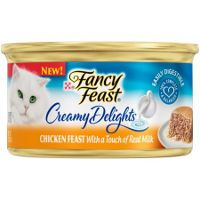 Print a coupon for $1 off six cans of Purina Fancy Feast Creamy Delights Wet Cat Food