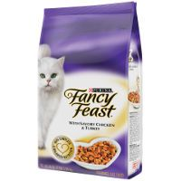 Print a coupon for $1 off a 3 lb bag of Purina Fancy Feast Dry Cat Food