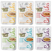 Print a coupon for $2.25 off 12 pouches of Purina Fancy Feast Broths