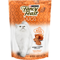 Print a coupon for $1.25 off any Fancy Feast Duos Cat Treats