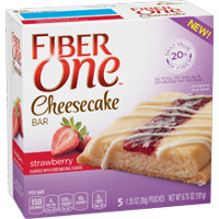 Save $0.50 on one box of Fiber One Cheesecake Bars