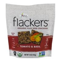 Print a coupon for $1 off any 4.5 oz or larger bag of Flackers Organic Flaxseed Crackers