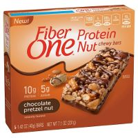 Print a coupon for $0.50 off a box of Fiber One Protein Nut Bars