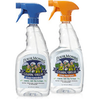 Print a coupon for $1 off any Four Monks Cleaning Vinegar 24oz Spary Bottle