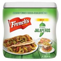 Print a coupon for $1 off French's Crispy Jalapenos, Dill Pickle or Red Pepper