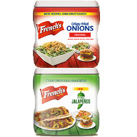 Print a coupon for $0.30 off French's Crispy Fried Onions or Crispy Jalapenos