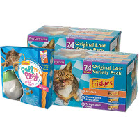 BOGO - Buy any two 24ct variety packs of Friskies Brand Wet Cat Food, get one Friskies Pull 'n Play Pack Free
