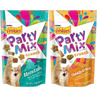 Save $0.75 on any bag of Friskies Party Mix Cat Treats
