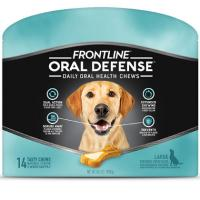 Print a coupon for $3.25 off one package of Frontline Oral Defense Pet Chews for Large Sized Dogs