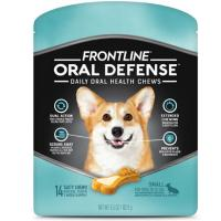 Print a coupon for $2.75 off one package of Frontline Oral Defense Pet Chews for Small Sized Dogs