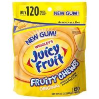 Save $0.75 on any Juicy Fruit Multi Pack or Juicy Fruit Fruity Chew Bottle
