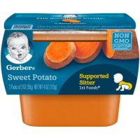 Print a coupon for $1.50 off four Gerber Puree Tubs