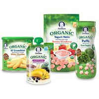 Print a coupon for $1 off Four Gerber  Organic Glass Jars