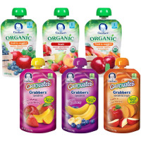 Print a coupon for $1 off any six Gerber Grabbers or Organic Pouches